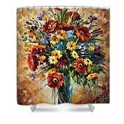 Magic Flowers Shower Curtain