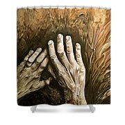Magic Hands Shower Curtain