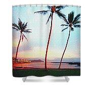 Magic Island Canvas Shower Curtain