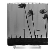 Magic Island Silhouettes Shower Curtain