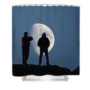 Magic Landscapes 2 -- Moon Men Shower Curtain