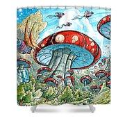 Magic Mushroom Forest Shower Curtain