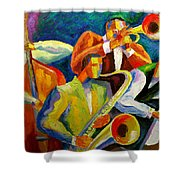 Magic Music Shower Curtain by Leon Zernitsky