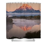 Magic Of Dawn At Oxbow  Bend Shower Curtain