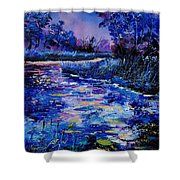 Magic Pond Shower Curtain by Pol Ledent