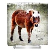 Magic Pony  Shower Curtain