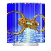 Magic Rings Shower Curtain