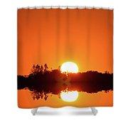 Magic Sunset  Shower Curtain