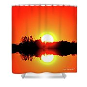 Magic Sunset  Two  Shower Curtain