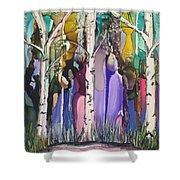 Magical Birch Shower Curtain