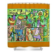 Magical Cookies A Collaboration With Eva Miller Shower Curtain