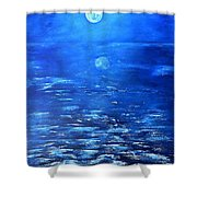 Magical Full Moon Shower Curtain