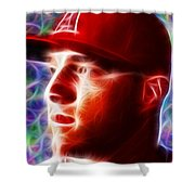 Magical Mike Trout Shower Curtain