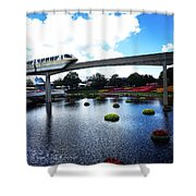 Magical Monorail Ride Shower Curtain