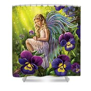 Magical Pansies Shower Curtain