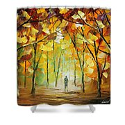 Magical Park Shower Curtain by Leonid Afremov