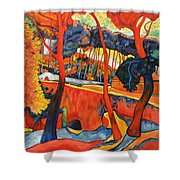 Magical Redwoods And Adobe Walls Shower Curtain