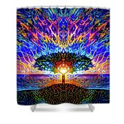 Magical Tree And Sun 2 Shower Curtain