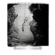 Magical Underwater Cave Shower Curtain
