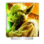 Magical Yoda Shower Curtain by Paul Van Scott
