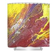Magma Flow Shower Curtain