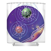 Magnesium And Potassium Ions Shower Curtain