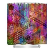 Magnetic Abstraction Shower Curtain