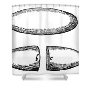 Magnets From De Magnete By W. Gilbert Shower Curtain