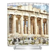 Magnificent Acropolis In Athens Shower Curtain