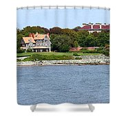 Magnificent Homes Along Cliff Walk Shower Curtain