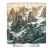 Magnificent Mount Huangshan Shower Curtain