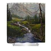 Magnificent Rockies Shower Curtain