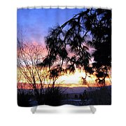 Magnificent Winter Sky Shower Curtain