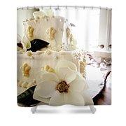 Magnolia Cake Three Shower Curtain