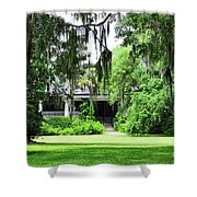 Magnolia Plantation Back Entrance Shower Curtain