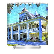 Magnolia Plantation House Shower Curtain
