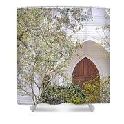 Magnolia Springs Church Shower Curtain