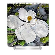 Magnolia Tree Flower Shower Curtain
