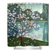Magnolia Shower Curtain by Wilhelm List