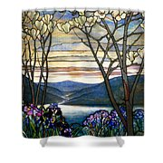 Magnolias And Irises Shower Curtain