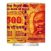 Mahatma Gandhi 500 Rupees Banknote Shower Curtain