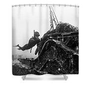 Mahi Wreck Shower Curtain