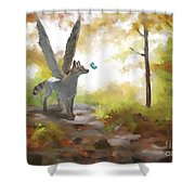 Mahli Shower Curtain by Brandy Woods