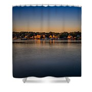 Mahone Bay From Oakland Shower Curtain