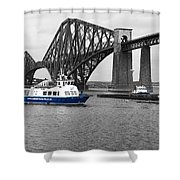 Maid Of The Forth In Blue. Shower Curtain