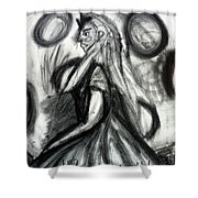 Maiden Of The Moon Shower Curtain