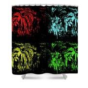 Maidenhair Ferns Pop Art Shower Curtain