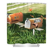Mail Boxes  Shower Curtain