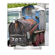 Mail Truck Shower Curtain