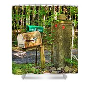 Mailbox On The Rural Country Road Shower Curtain